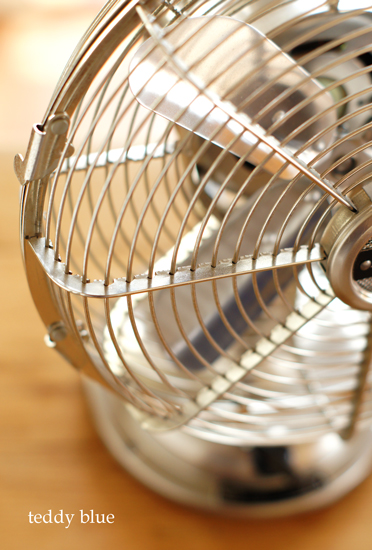 the old-fashioned fan  レトロな扇風機_e0253364_2192579.jpg