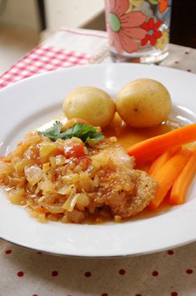 鶏のトマトキムチ炒め_d0104926_6373356.jpg