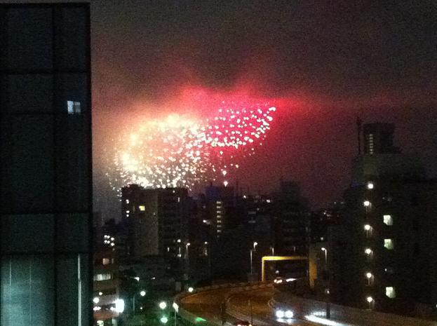 東京湾岸花火2012 マイ・バルコニーから見る_f0186787_21491532.jpg