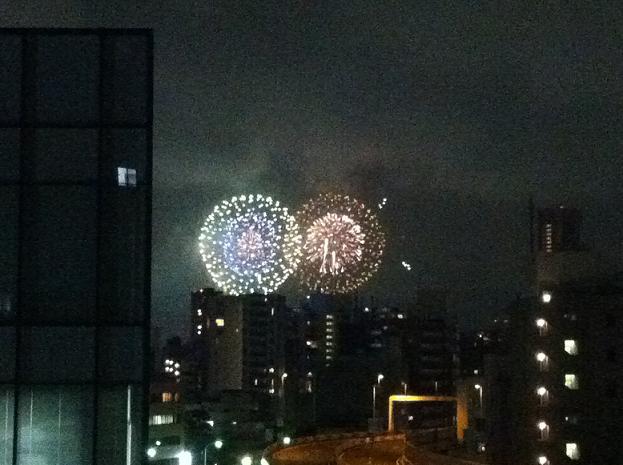 東京湾岸花火2012 マイ・バルコニーから見る_f0186787_21492679.jpg