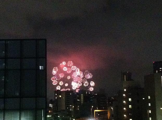 東京湾岸花火2012 マイ・バルコニーから見る_f0186787_21495314.jpg