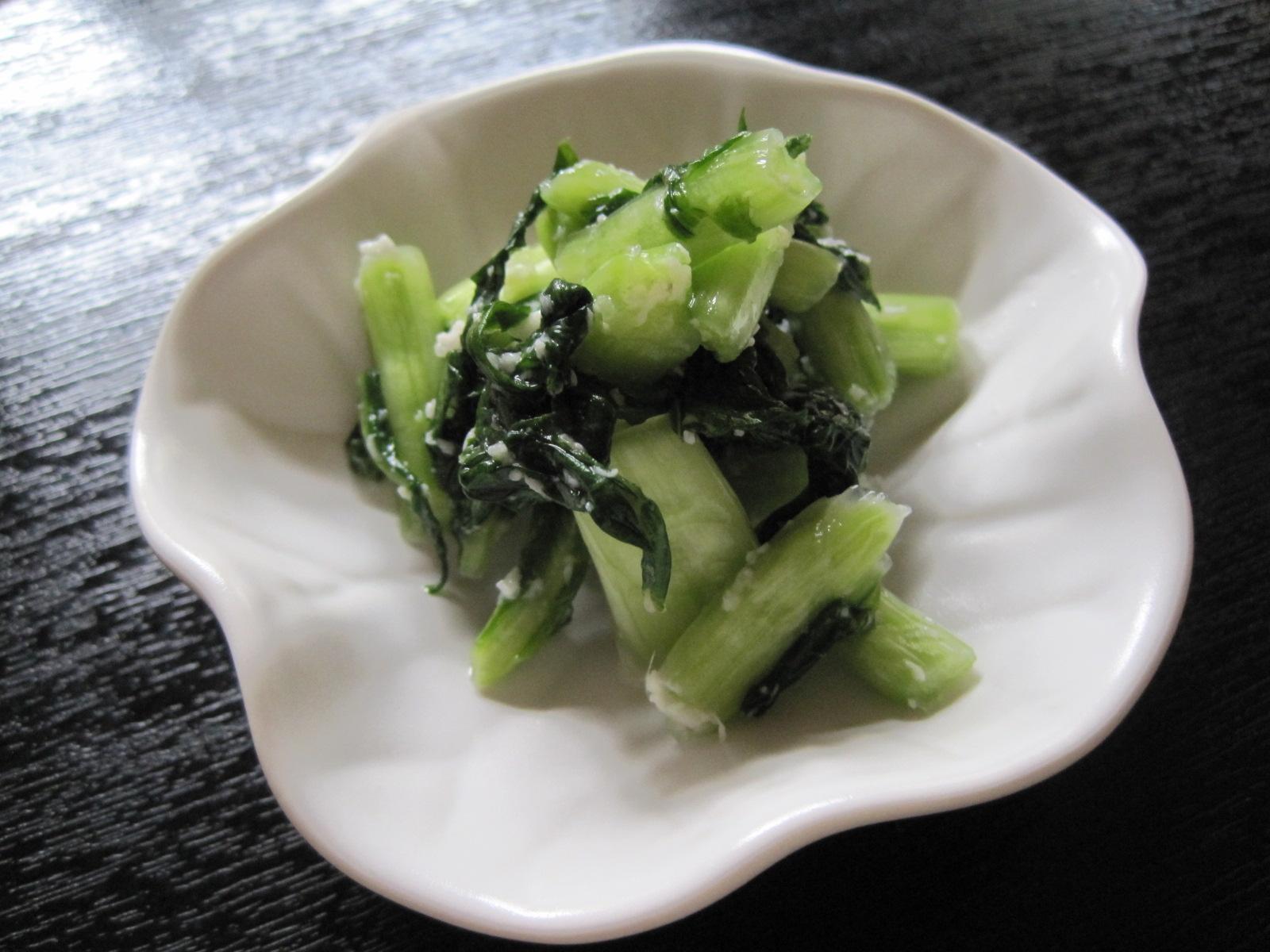 野沢菜の塩麹漬け @ツルヤ_f0236260_111393.jpg