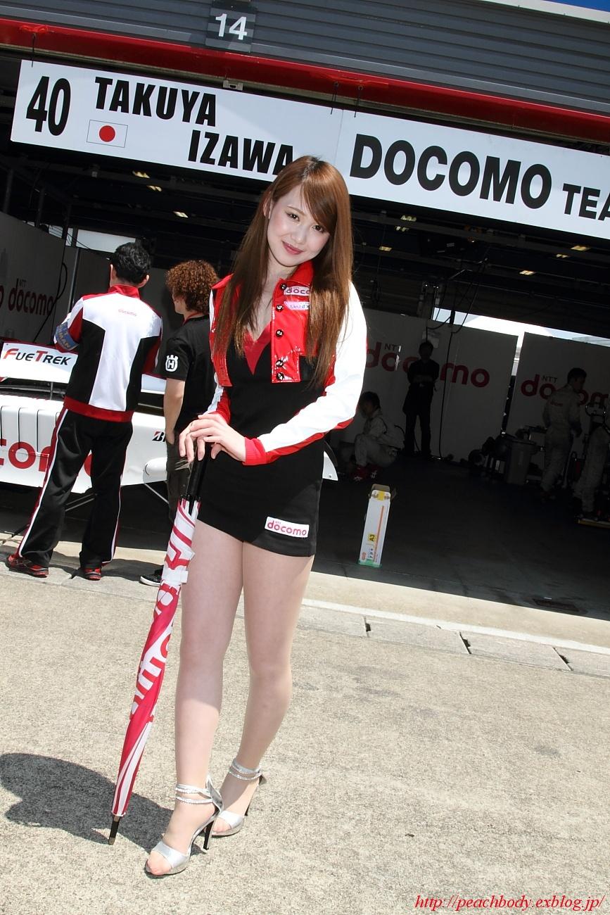 松田結衣 さん(DOCOMO TEAM DANDELION RACING サーキットレディ) その2_c0215885_12234490.jpg