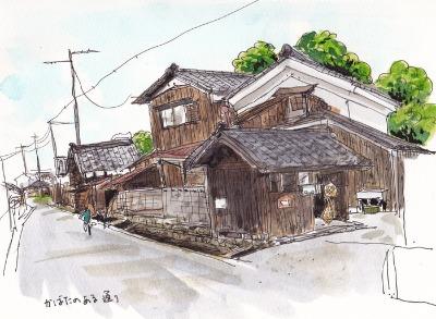 滋賀県高島市針江のスケッチ_f0072976_22532554.jpg