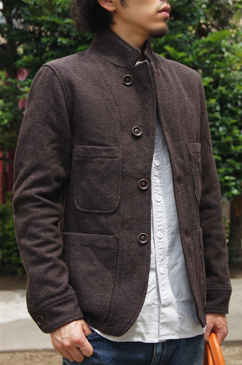 """nonnative\"" WOOL MIX DOBBY MELTON JACKET!!_c0079892_22152543.jpg"