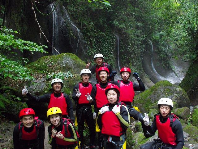 2012由布川渓谷の15m滝下降コース_f0230770_0493344.jpg