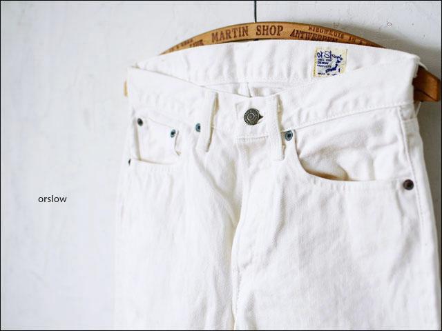 orslow[オアスロウ] STANDARD 5POCKET PANTS 13.5oz SELVEDEGE WHITE DENIM /ホワイトデニム [01-1050-69] _f0051306_18592258.jpg