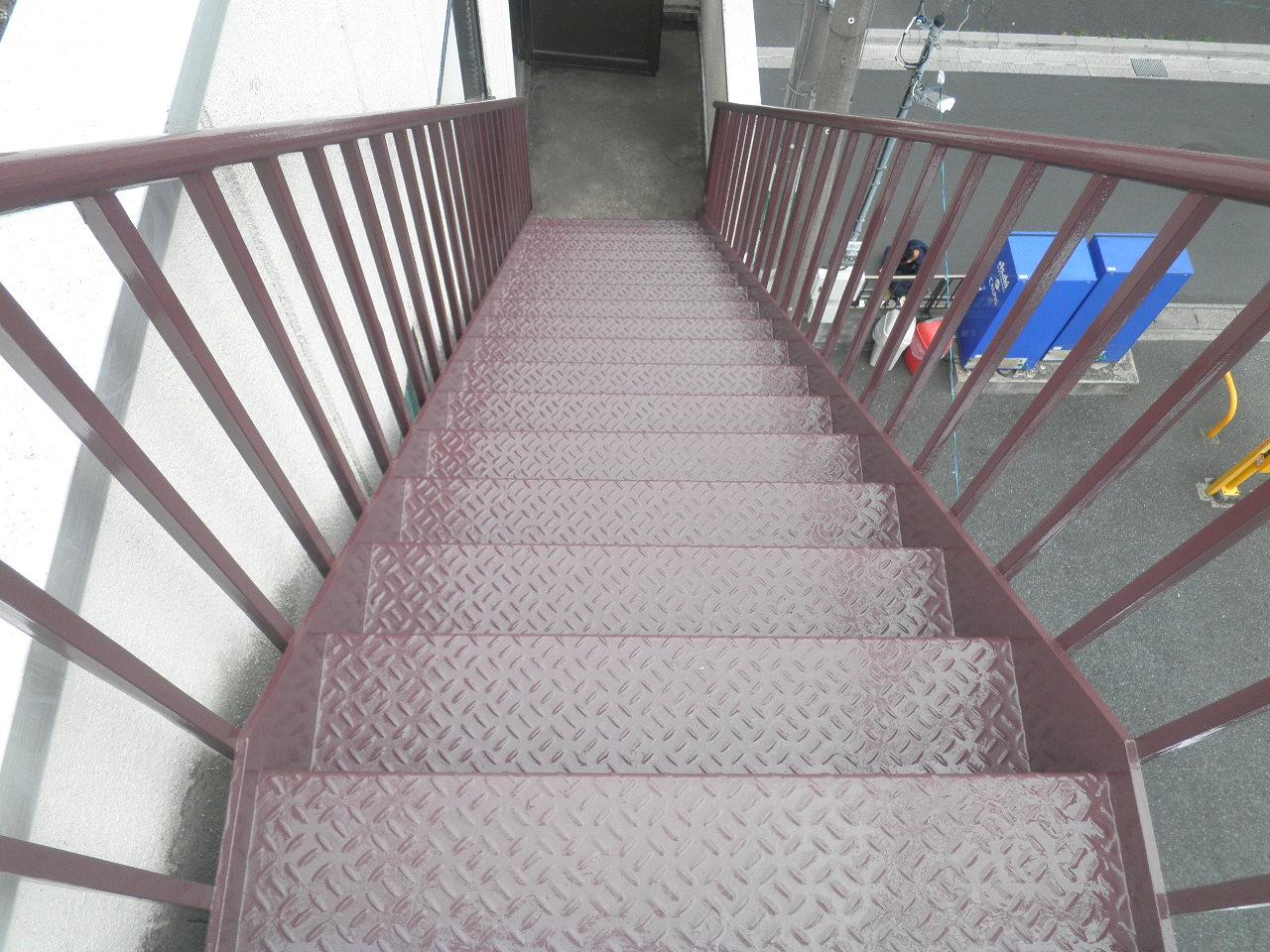 外部階段塗装②-3_e0164638_14523192.jpg