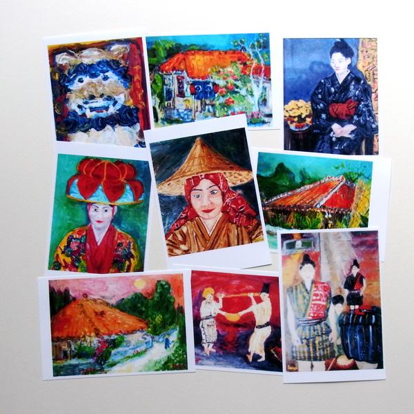 沖縄の絵がほしいとの依頼があり、はがきサイズにプリントしてみた。_a0086270_14401335.jpg