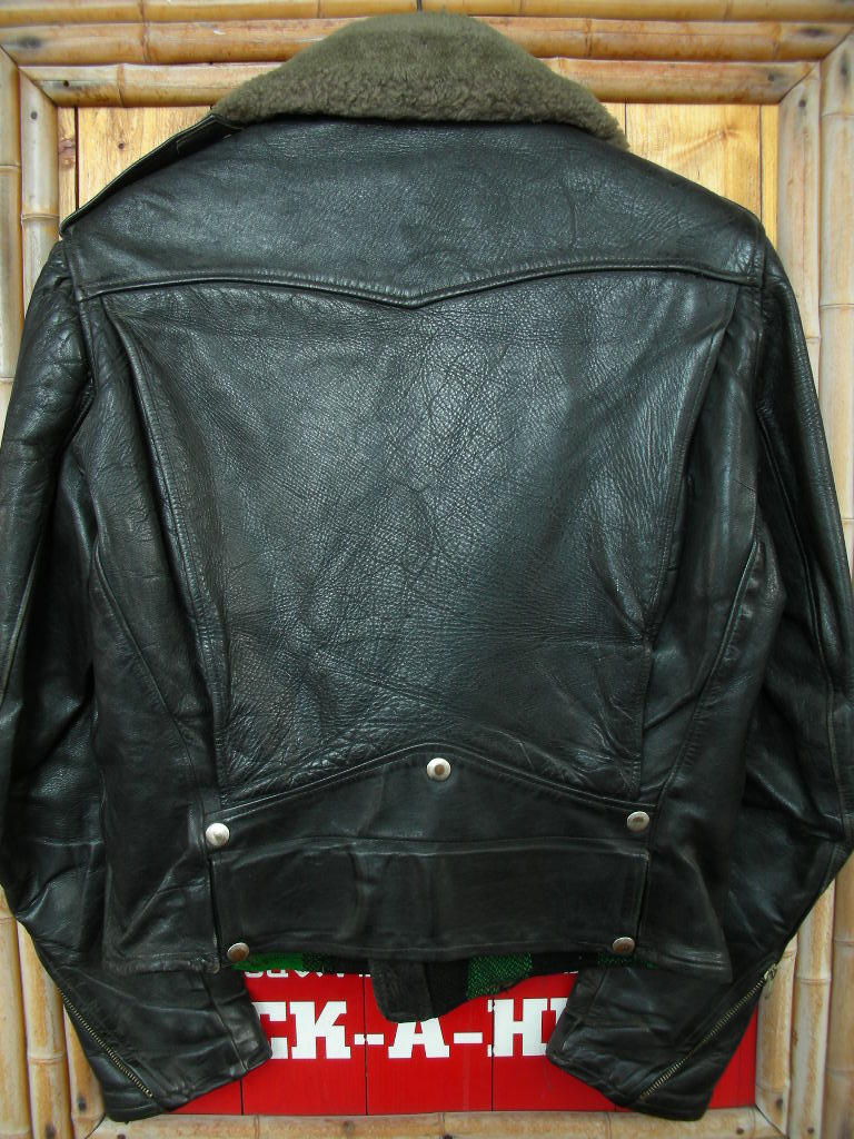 1950\'S HERCULES HORSEHIDE D POCKET MOTORCYCLE JACKET_c0187684_1633939.jpg