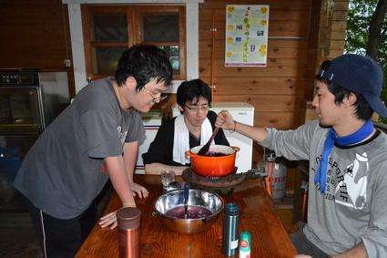 富久樹園カフェの桃シャーベット_e0228938_203243.jpg