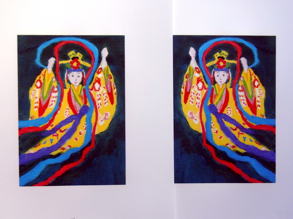 年に1回の版画を彫ろうと画材店でポスターカラーと版木など、紙屋で和紙を調達。_a0086270_19293847.jpg
