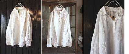 縞ちがいの白シャツ_b0161105_177590.jpg
