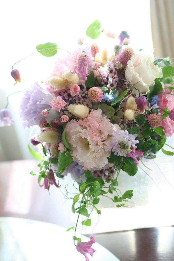 ナチュラルクラッチ一会風 結婚してよかった、というブーケ 大阪リストランテサリーレ様へ _a0042928_0312412.jpg