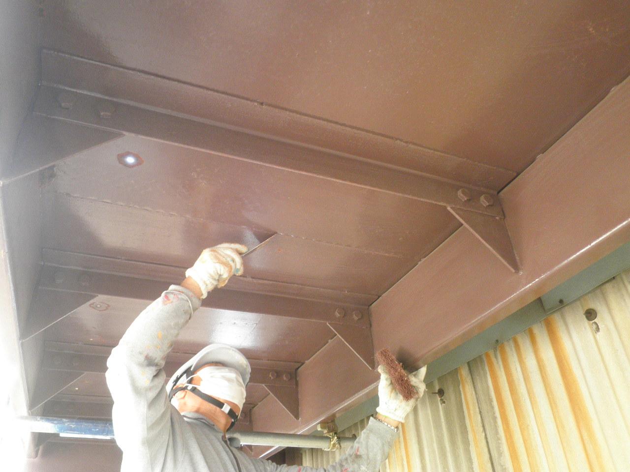 外部階段塗装②-4_e0164638_10544523.jpg