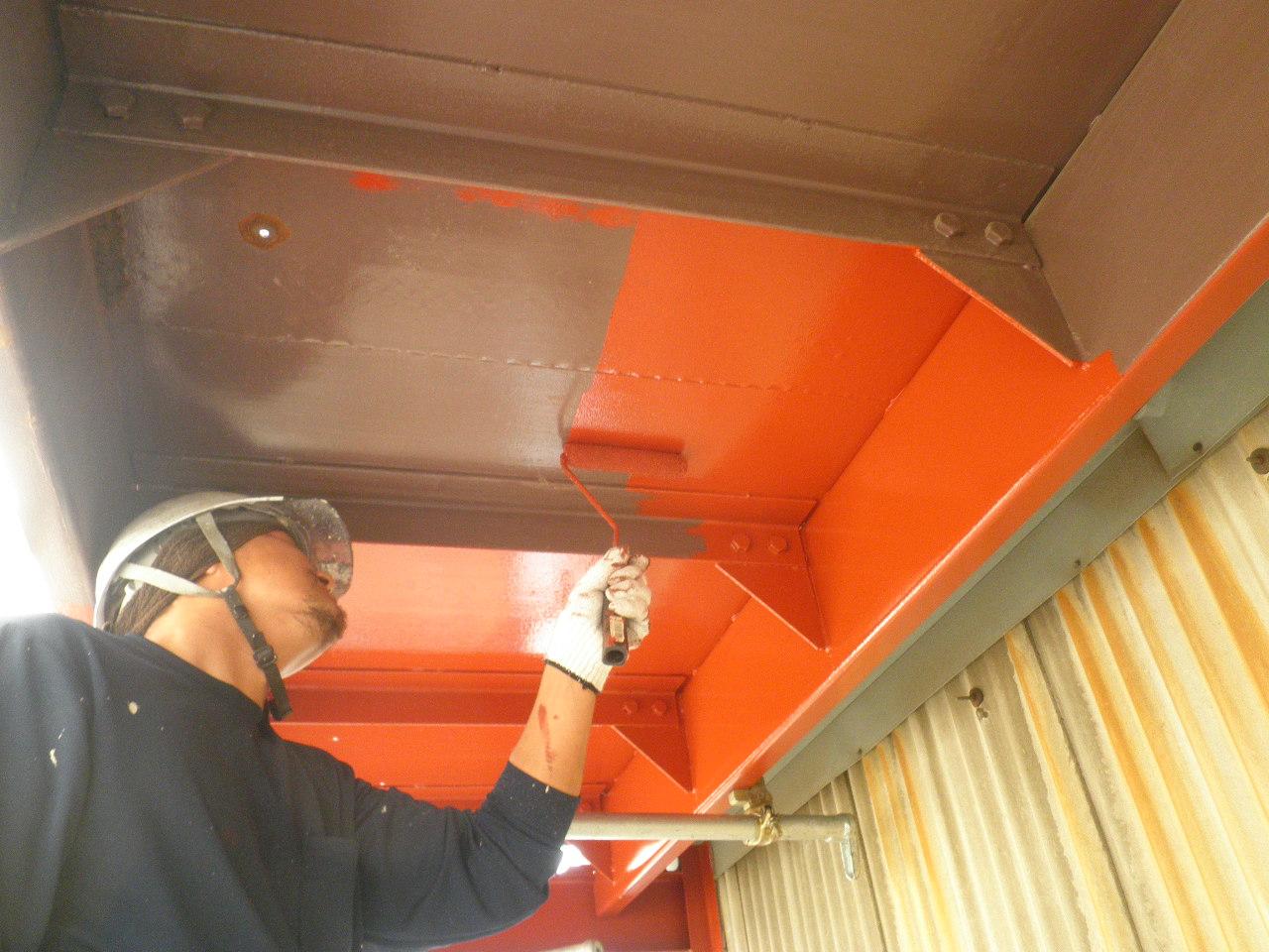 外部階段塗装②-4_e0164638_10573864.jpg