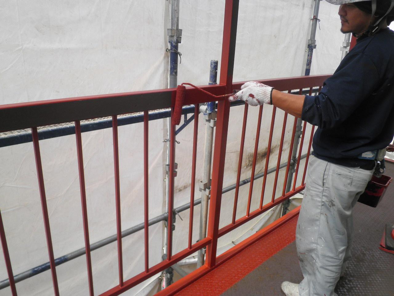 外部階段塗装②-4_e0164638_1058090.jpg
