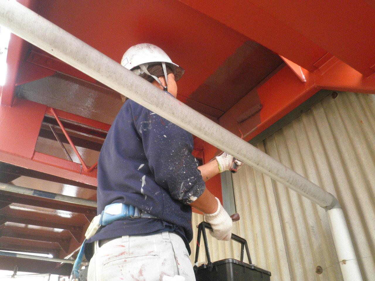 外部階段塗装②-5_e0164638_16281638.jpg