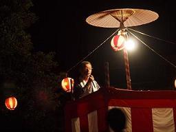 伝統芸能「盆踊り」 野路地区で!_e0175370_1529566.jpg