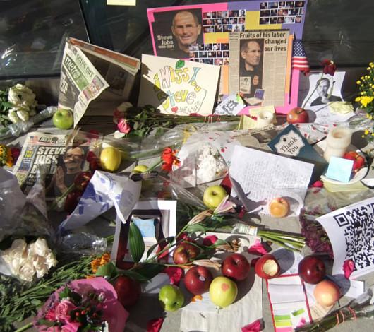 スティーブ・ジョブズさん追悼特集 ニューヨークWest68丁目店前_b0007805_7512468.jpg