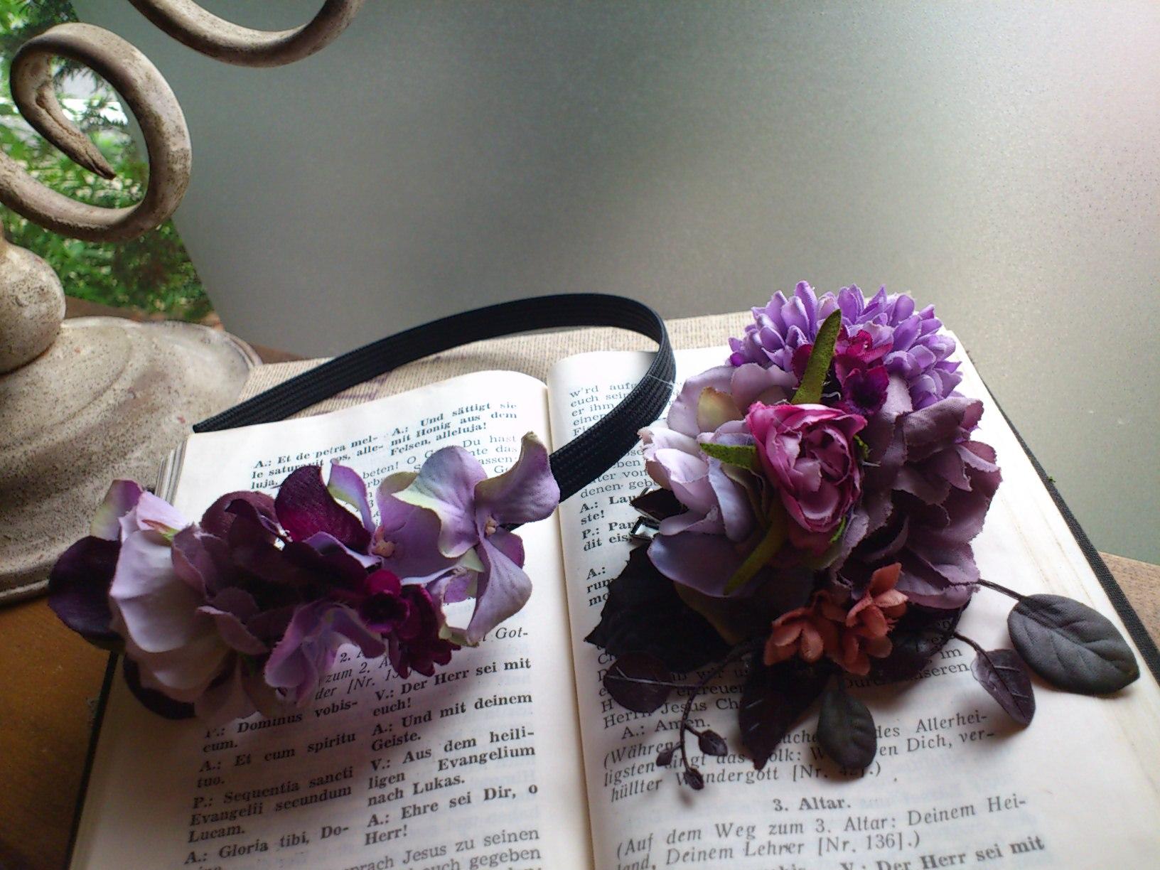 お花のコサージュ&カチューシャ〜パープル〜_e0128024_14202911.jpg
