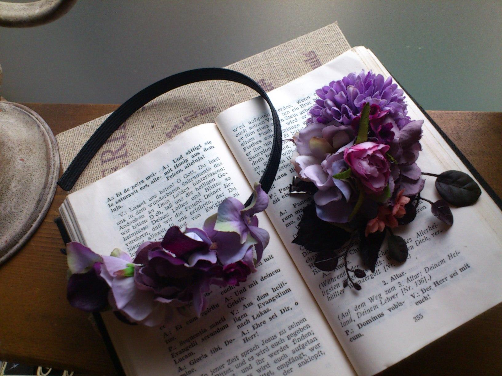 お花のコサージュ&カチューシャ〜パープル〜_e0128024_14202983.jpg