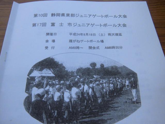 暑いけど不安定な天気の中で行なわれた富士市ジュニアゲートボール大会_f0141310_736211.jpg