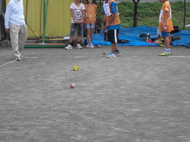 暑いけど不安定な天気の中で行なわれた富士市ジュニアゲートボール大会_f0141310_7371417.jpg