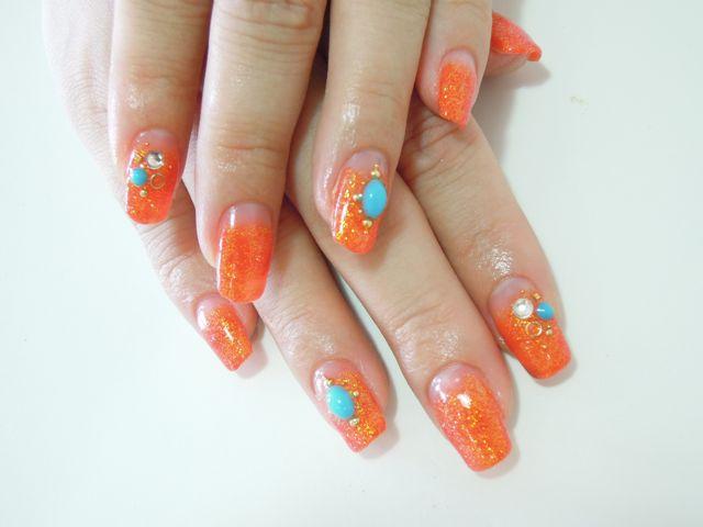 Orange Nail_a0239065_16483491.jpg
