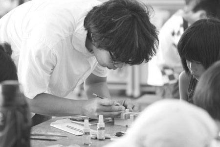 最後の九州ツアー「カキノジンさんの絵はんこ教室」_f0121167_0355159.jpg