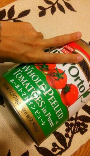約3㌔のトマト缶を100円でget♪_b0252508_22154765.jpg