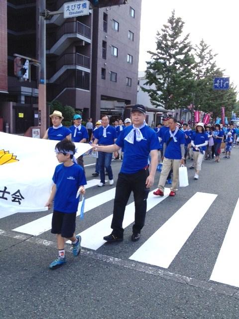 「水の祭典 久留米祭り」パレード!_f0120774_1562046.jpg