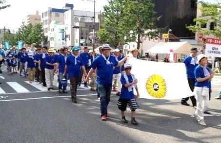 「水の祭典 久留米祭り」パレード!_f0120774_1563824.jpg
