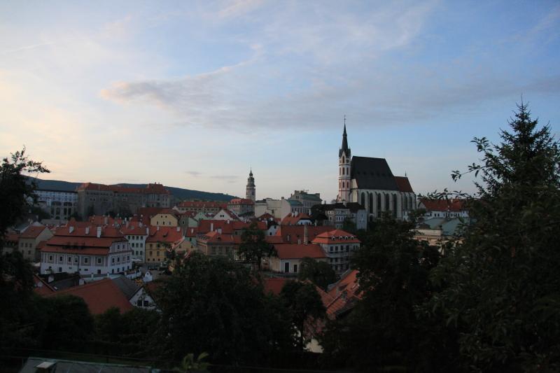 チェスキークルムロフの町並みが見えるホテル_c0187779_651581.jpg