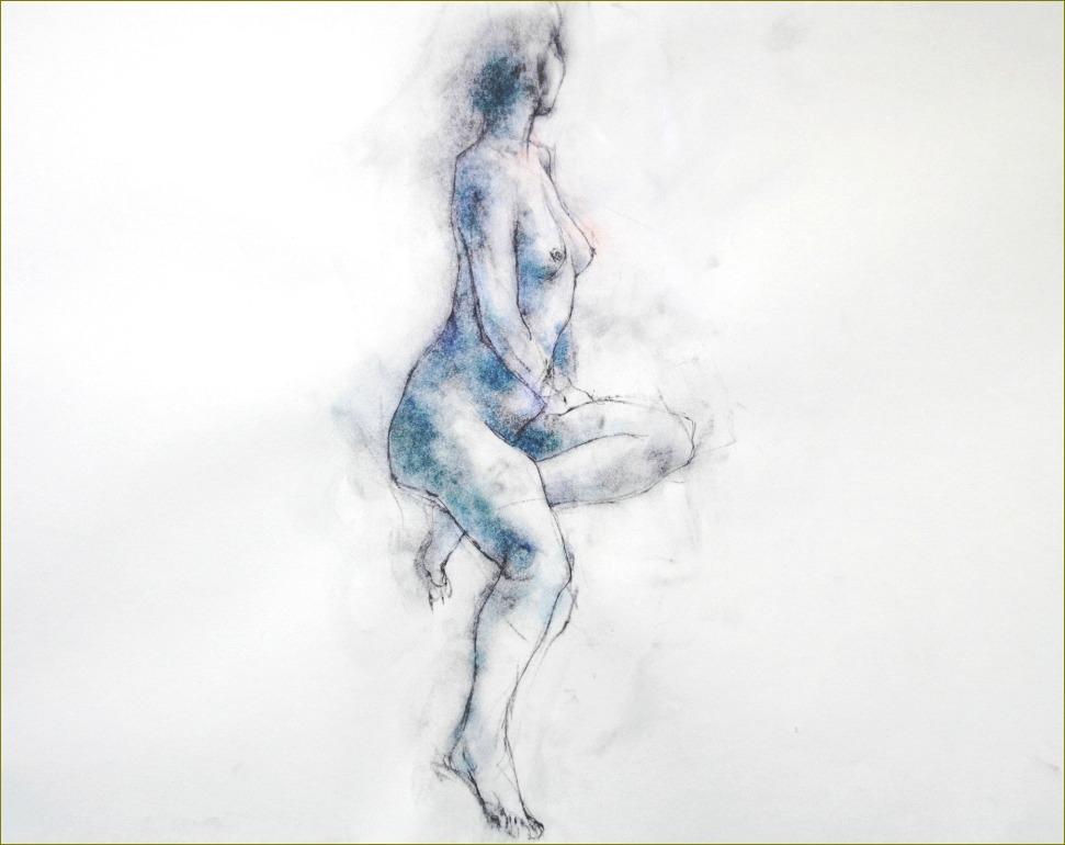 《裸婦素描着彩》_f0159856_2112642.jpg