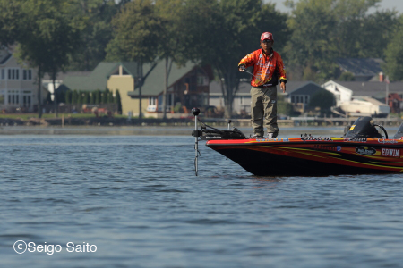 Bassmaster Elite Series #8 Oneida Lake, NY 2日目_a0097491_9171061.jpg