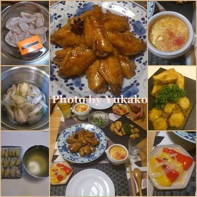 手羽先を使って中華風なご飯。_b0065587_1856232.jpg