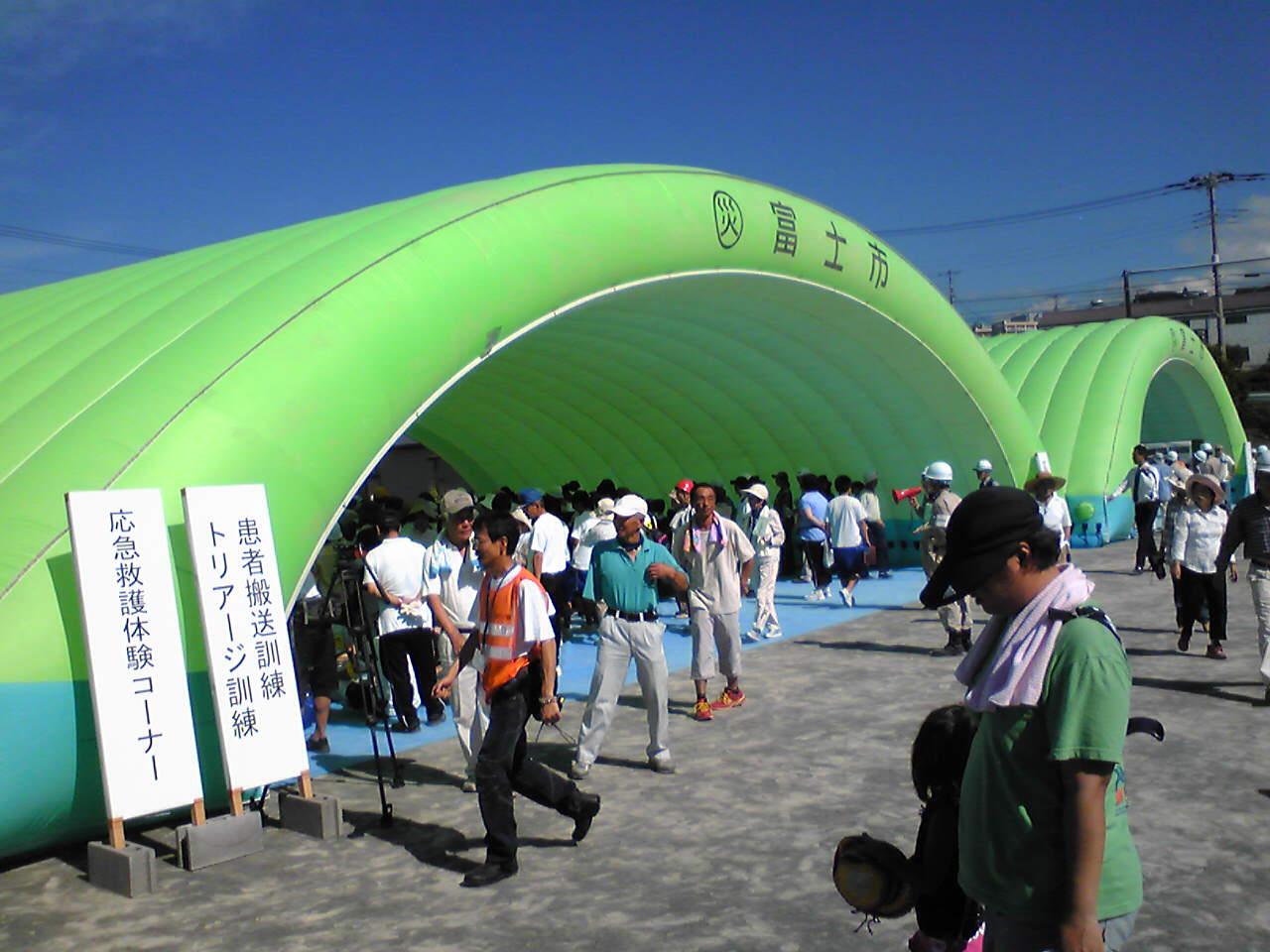 青葉台小で富士市会場型総合防災訓練_f0141310_7565324.jpg