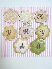 アイシングクッキー レッスン 風景 「花文字」_b0125541_2051764.jpg