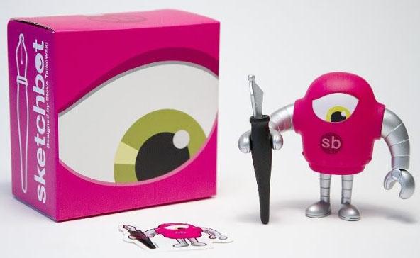 SKETCHBOT V3 Pink Ver. by Steve Talkowski_e0118156_18285943.jpg