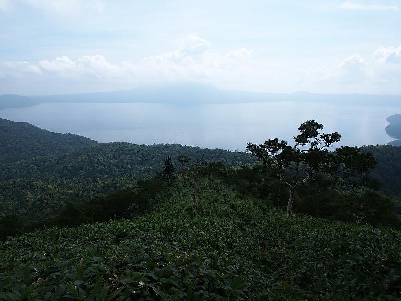 8月28日、イチャンコッペ山(反射板ピークまで)と樽前山_f0138096_118481.jpg