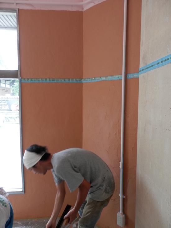 「土壁」塗りと「神棚」~☆_a0125419_803145.jpg