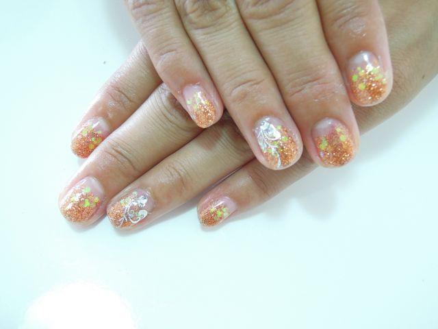 Orange Nail_a0239065_16504812.jpg