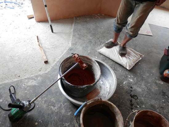 「土壁」塗りと「キッチンシート」☆_a0125419_821246.jpg