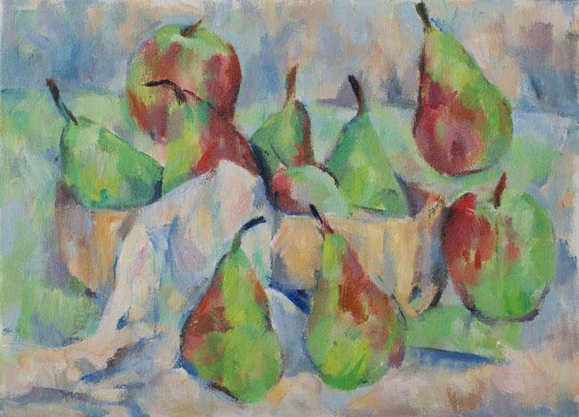 リンゴと梨(完成)_c0236929_17234048.jpg