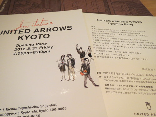 UNITED ARROWS KYOTO Opening Party・・・_a0160153_23375967.jpg