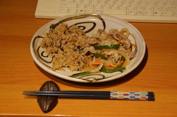 夕飯はお供え物_e0166355_19435347.jpg