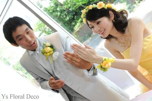 鮮やかな黄色のドレスに 黄色いお花の花冠_b0113510_2337137.jpg