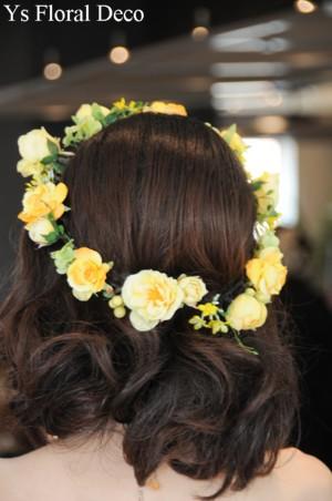 鮮やかな黄色のドレスに 黄色いお花の花冠_b0113510_23374840.jpg