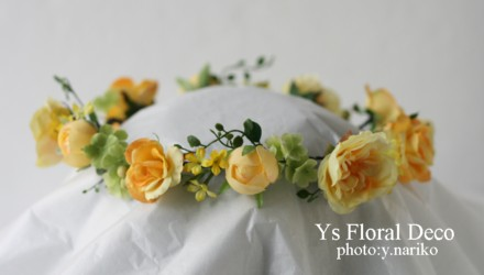 鮮やかな黄色のドレスに 黄色いお花の花冠_b0113510_2338937.jpg